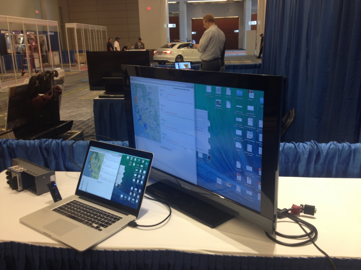 A live demo at the Smart America Challenge Expo