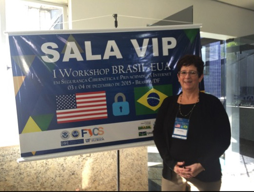 Terry Benzel at the Workshop BRAZIL-EUA, Dec 3-4