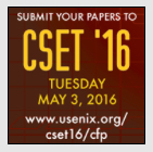 Submit Your Papers To CSET'16 image